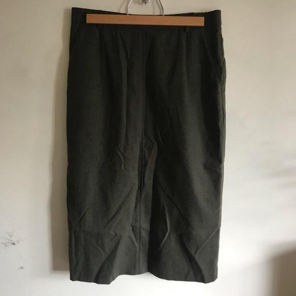gelco Dresses & Skirts - 100% wool olive green skirt